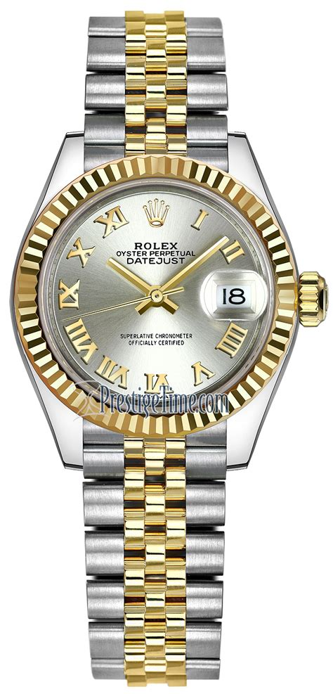 Rolex Ro147 Yellow Silver 279173 silver jubilee rolex datejust 28mm stainless steel and yellow gold