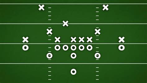 football game strategy animation with xs and os stock