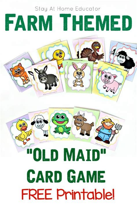 Home Shop Plans farm themed old maid card game for preschoolers teaches