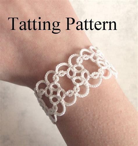 etsy tatting pattern pdf tatting pattern christina bracelet beginner