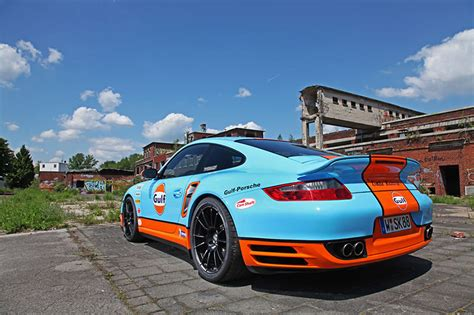 gulf porsche 911 cam shaft creates the gulf racing porsche 911 turbo