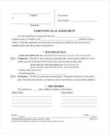 shared parenting plan template parenting plan template shared parenting plan template