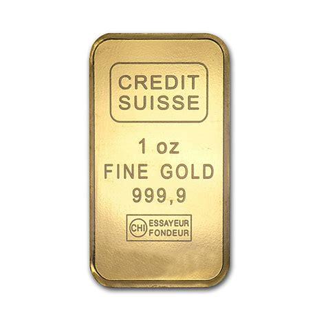 1 oz Credit Suisse Gold Bar   Buy Online at GoldSilver®
