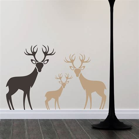 deer wall sticker woodland deer family wall stickers by snuggledust studios notonthehighstreet