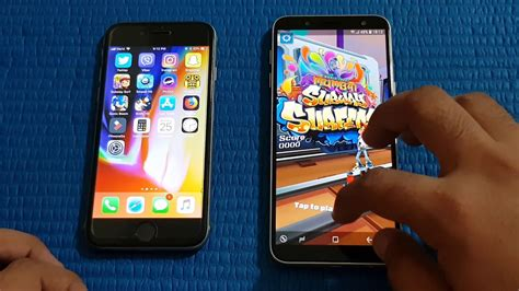 samsung galaxy j6 2018 vs iphone 6s speed test mobile arena