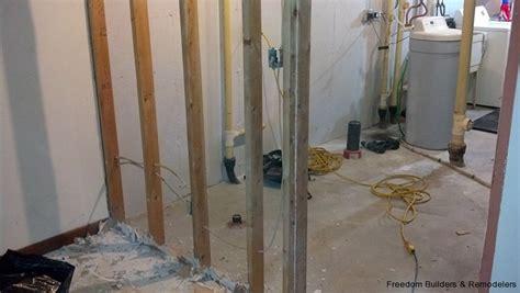 bathroom remodel diy demolition basement bathroom freedom builders remodelers