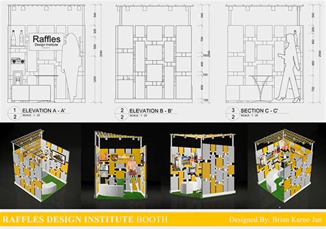 booth design indonesia raffles design institute jakarta booth on behance
