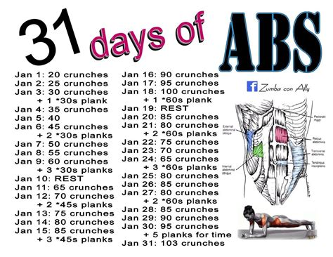 try january s 31 days of abs challenge follow con ally on for recommended