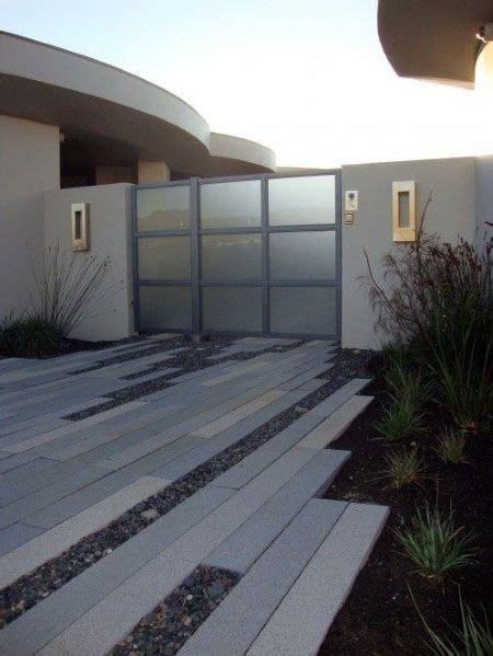 top   concrete driveway ideas front yard exterior designs