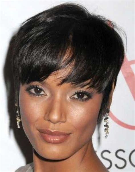 short and trendy hairstyle for woman in her forties trendy short hairstyles for black women wardrobelooks com