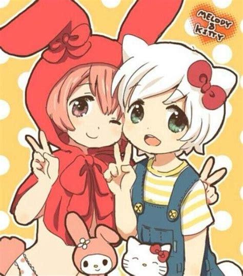imagenes de hello kitty y my melody my melody hello kitty manga anime anime manga