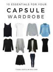 10 capsule wardrobe basics the blissful mind