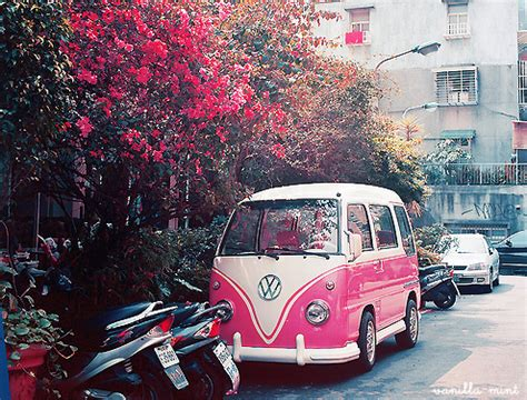 bmw hippie bmw car combi cute flowers image 114264 on favim com