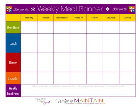 printable meal prep planner meal planning so simple even a gym bro can do it with