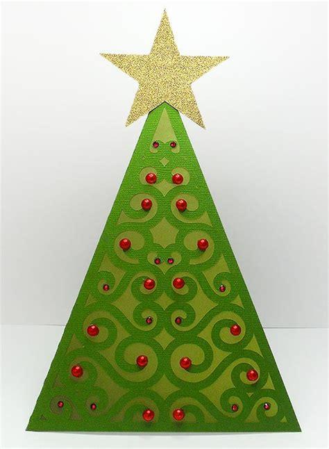 triangle christmas tree card