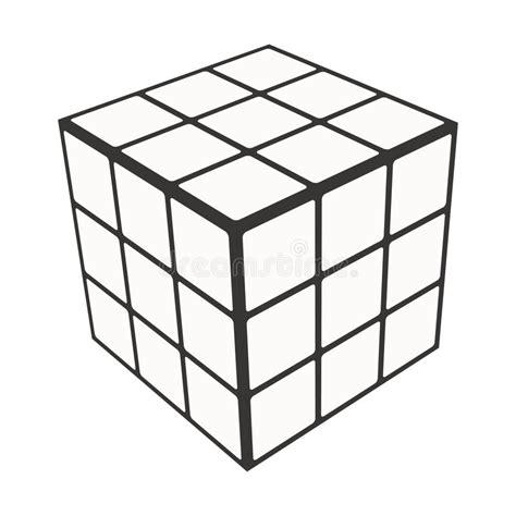 Rubik Infinity Cube Black Or White rubik s cube logo design icon vector illustration geometric sign pattern editorial