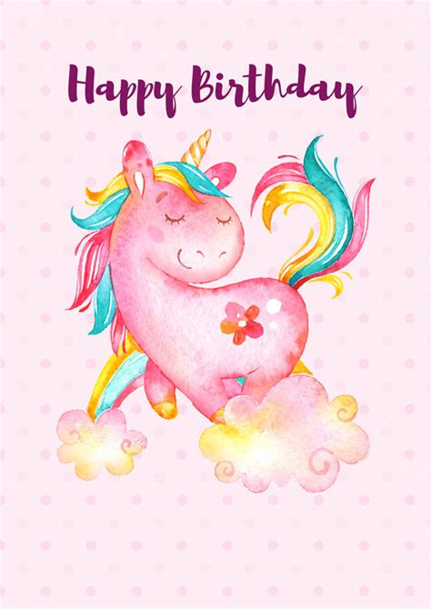 printable birthday cards unicorn unicorn happy birthday poster unicorn