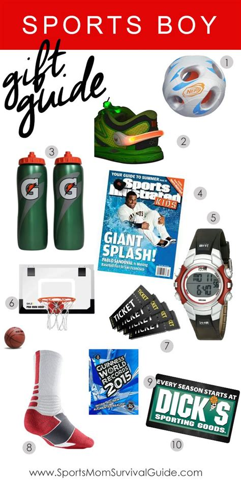 Great Gift Ideas For The Sporty by Sports Boy Gift Guide Dado Y Regalitos