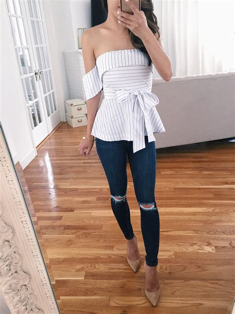summer reviews striped peplum tops petite maxi dresses