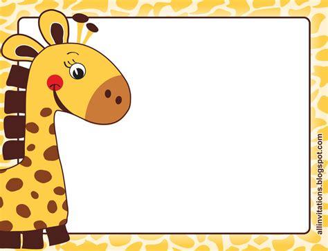 imagenes de jirafas para baby shower la jirafita all invitations