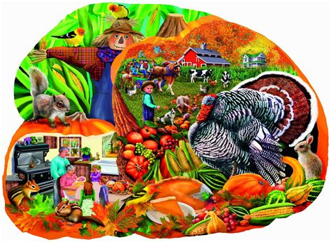 printable thanksgiving jigsaw puzzles country harvest halloween thanksgiving shaped puzzle