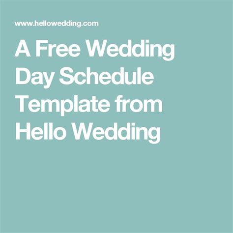 free wedding day itinerary template 17 best ideas about wedding itinerary template on