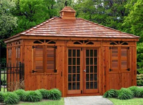 Backyard Enclosed Gazebo Outdoor Living