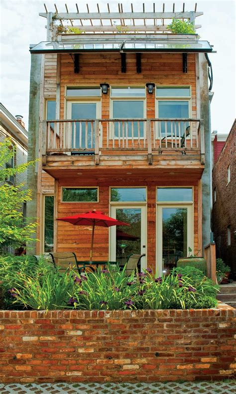 small house plans with second floor balcony row house renovation a leed certified home in richmond s