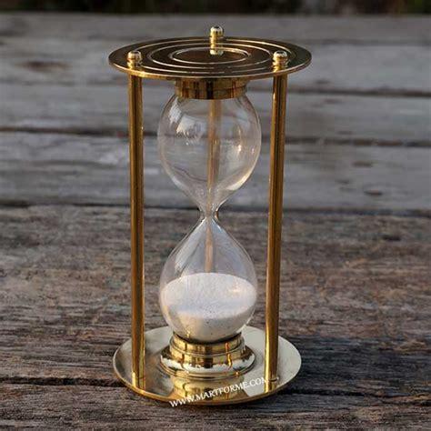 hourglass home decor antique hourglass home decor gifting solid brass nautical