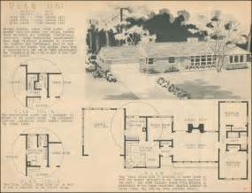 1950s Ranch House Plans Mid Century Ranch Style 1950 Home Building Plan Service Portland Oregon Garden View Plan