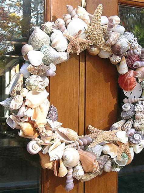 christmas crafts with shells shell wreath hgtv