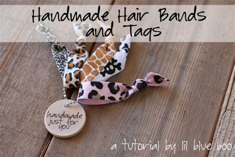 How To Make Handmade Hair Bands - handmade hair bands and gift tags tutorial and free