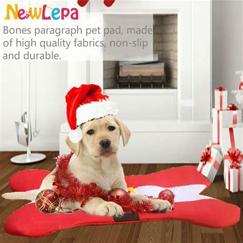 home design story dog bone hot sale christmas dog bed santa belt bone shape design