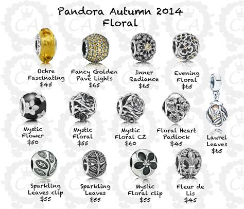pandora autumn 2014 collection prices charms addict