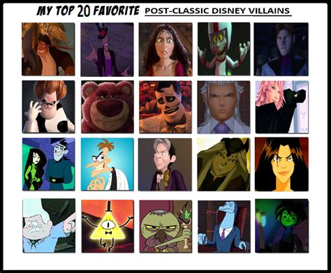 Top 20 Classic by My Top 20 Favorite Post Classic Disney Villains By