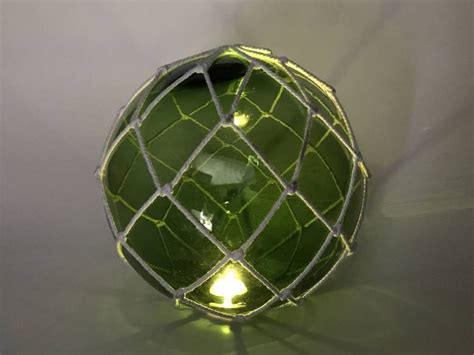 decorative lighting balls wholesale tabletop led lighted green japanese glass ball