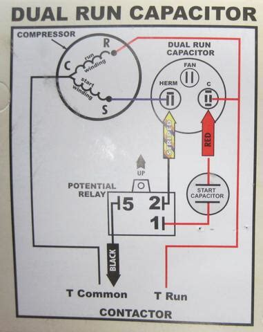 potential relay start capacitor wiring diagram what is a
