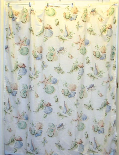 Martha Stewart Shower Curtains by Martha Stewart Seashells Fabric Shower Curtain Beige Multi
