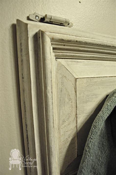 Repurposing Cabinet Doors Repurposed Cabinet Door Towel Holder Vintage Charm Restored