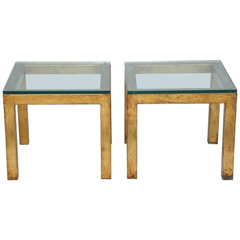 accent tables for sale pair of gilded iron parsons style accent tables for sale