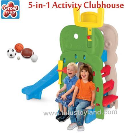 Ching Ching Elephant Slide N Basketball Slide Perosotan Pumpkin grow n up 5 in 1 activity clubhouse slide perosotan anak multi fungsi
