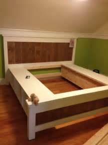 Bed Frame With Storage Design King Size Platform Bed Frame Plan Design Picture With