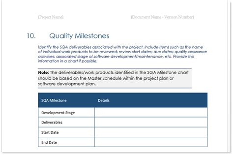 quality templates quality assurance plan template ms word 7 excel
