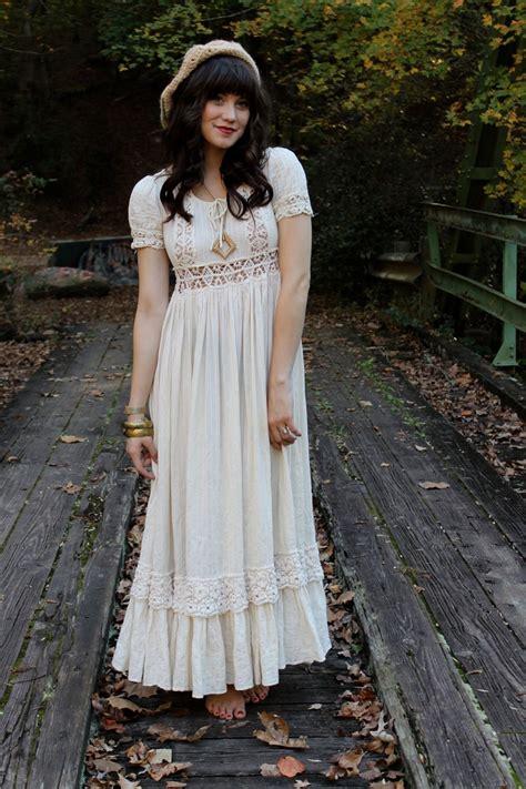 Bohemian Maxi Dress Boho Hippies Hippie Vintage Retro 1 vintage 70 s hippie boho crochet lace wedding maxi dress s m vintage 70s hippie boho and
