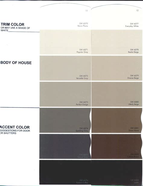 the preserve architectural review board color charts