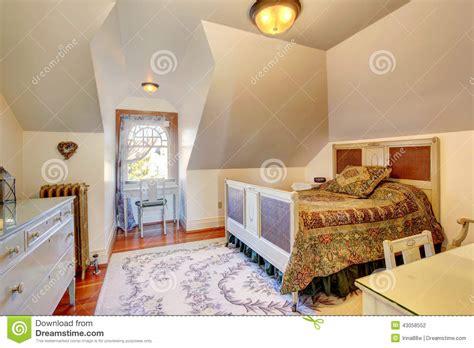 interior design bedroom vaulted ceiling cozy small bedroom with vaulted ceiling stock photo