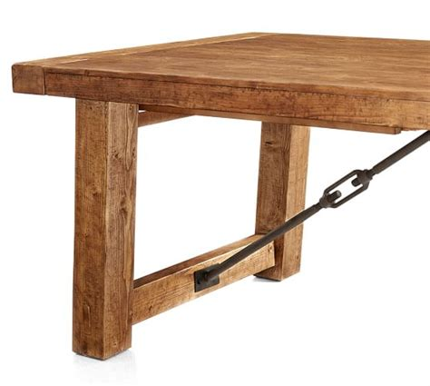 Benchwright Dining Table Benchwright Extending Dining Table Pottery Barn