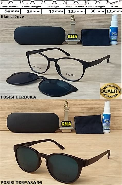 Clip On Kacamata Polarized kacamata sunglass diesel clip on polarized black dove