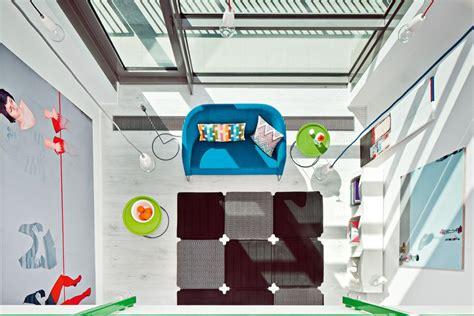 Livingroom Colors Vivid Colors In Modern Loft Home Inspire