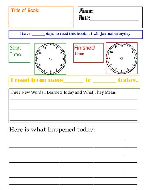 reading diary template free reading journal printable printable worksheets
